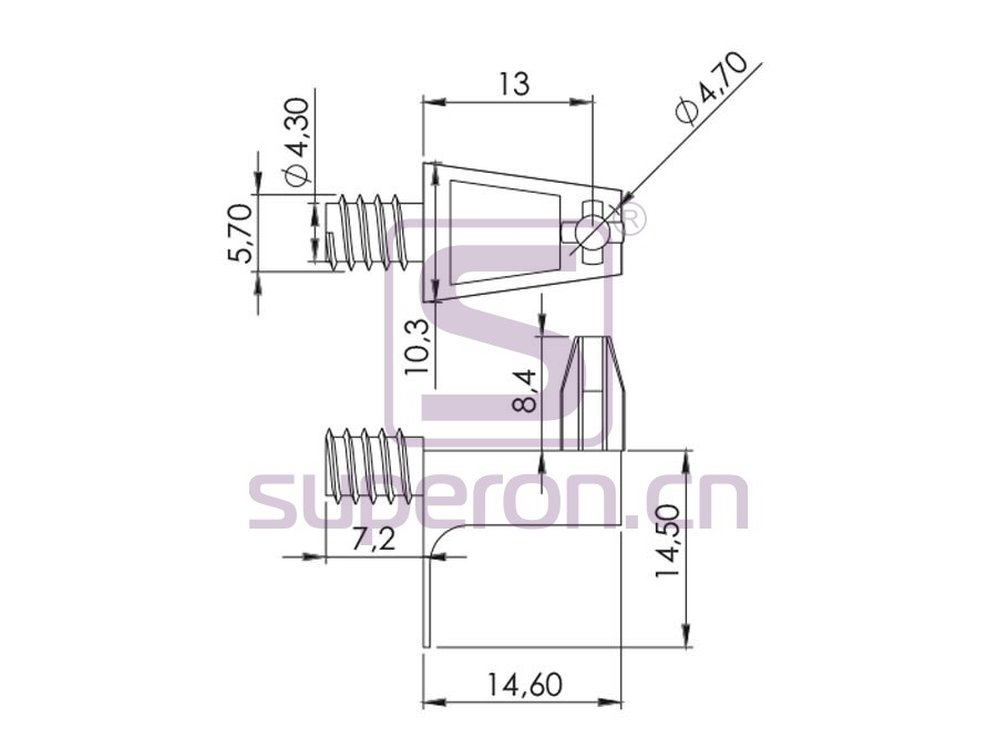 08-010-q | Shelf support, L shaped