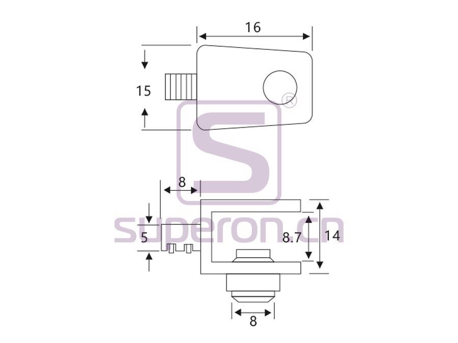 08-039-q | Decorative glass support