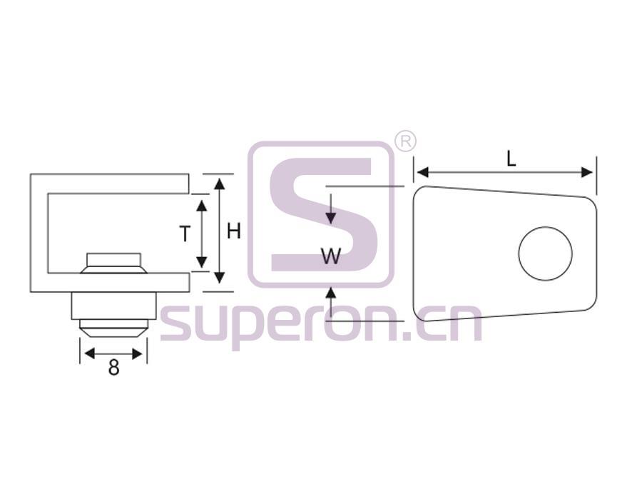 08-040-q | Decorative glass support