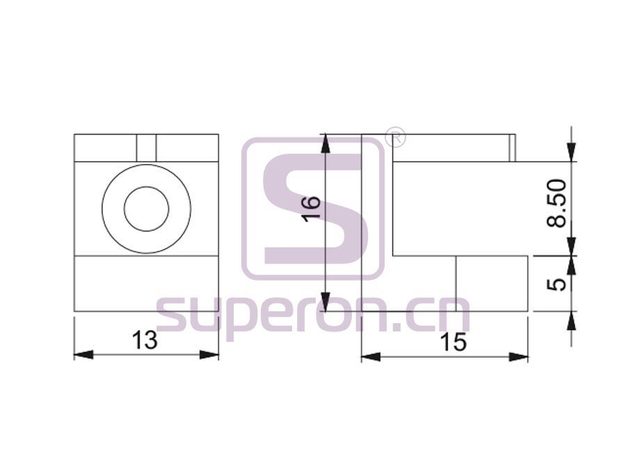 08-041-q | Decorative glass support