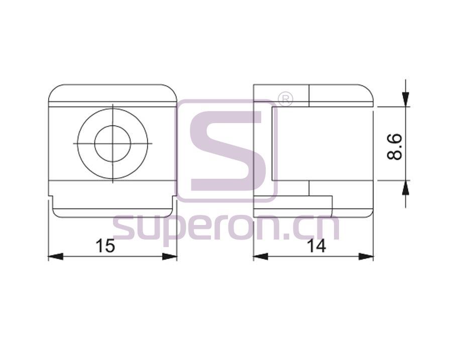 08-042-q | Decorative glass support