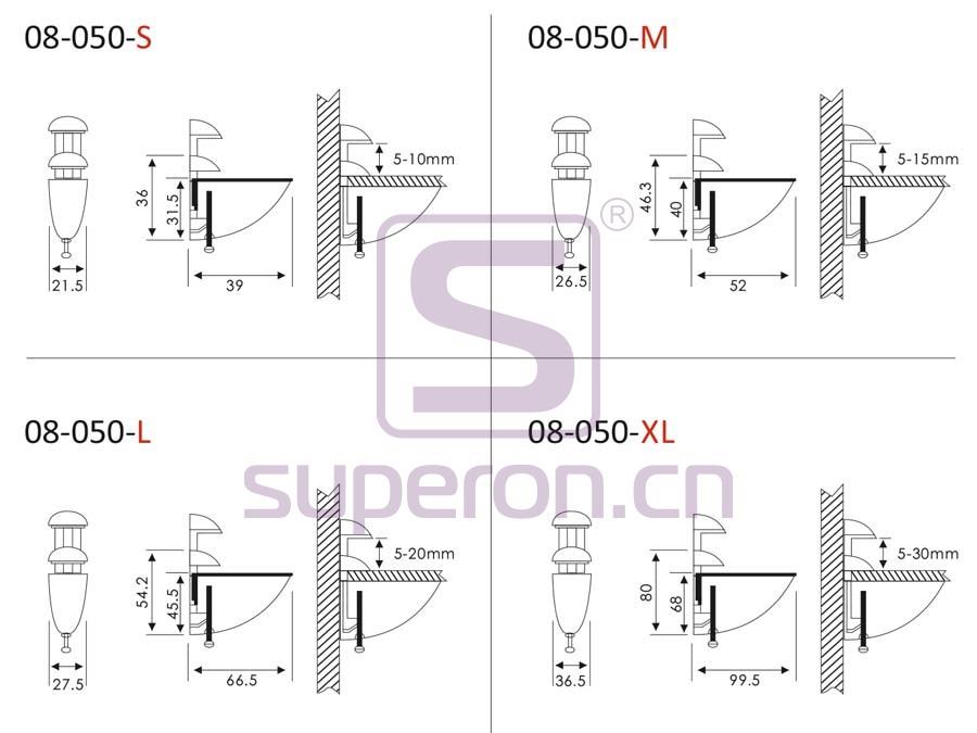 08-050-q | Pelican shelf support