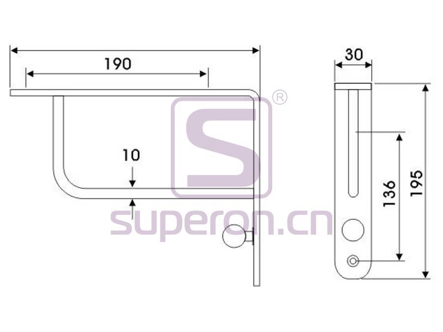 08-421-x | Decorative shelf supports
