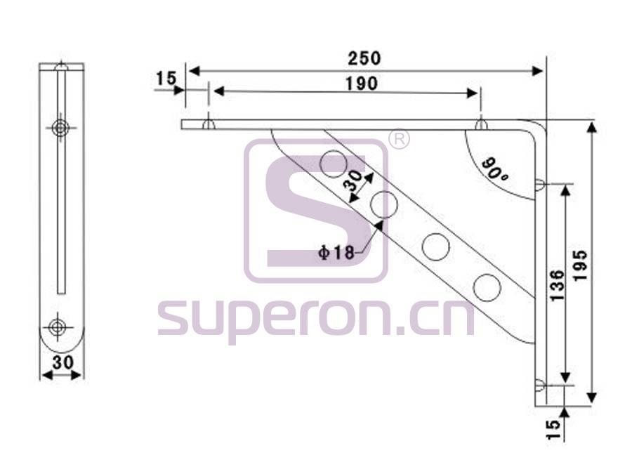 08-423-x | Decorative shelf supports