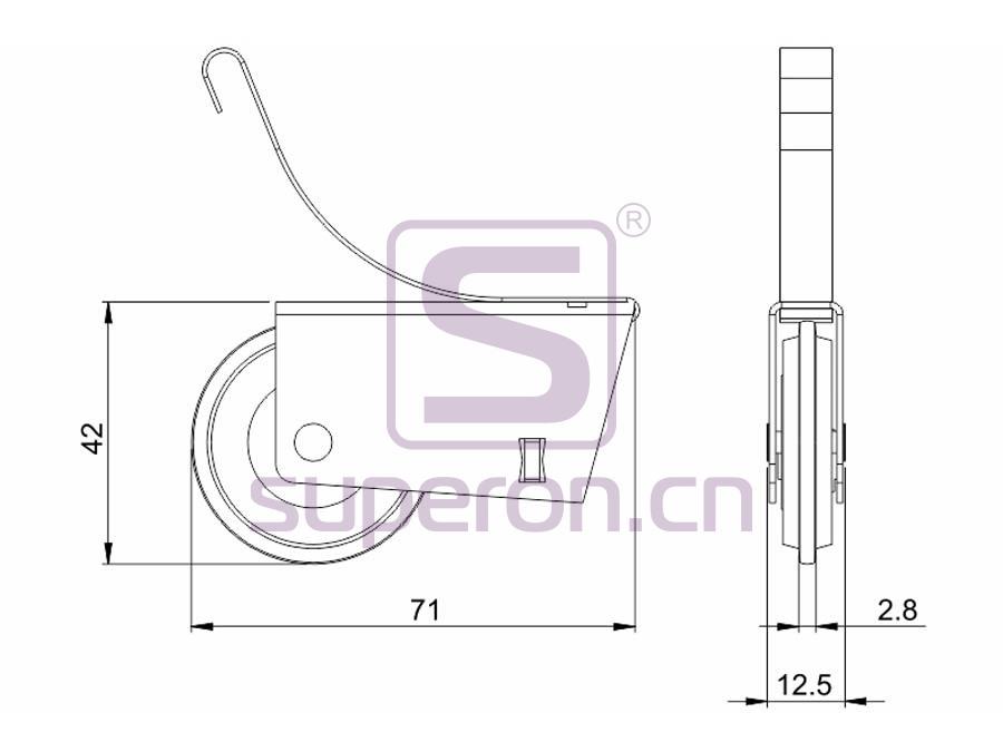 09-101-608A&629A-q | Roller system (asymmetric)