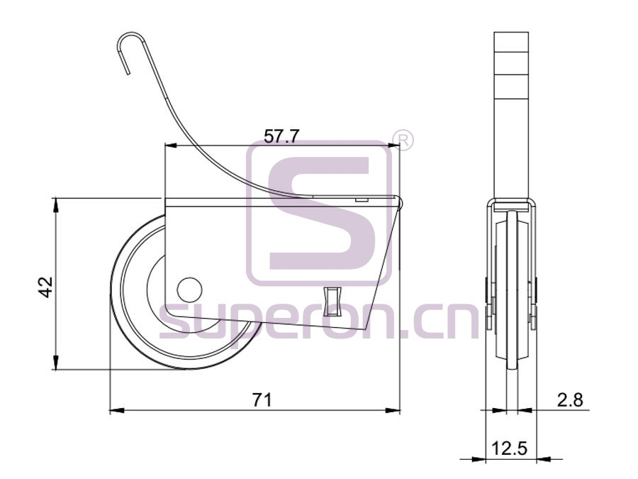 09-102-608A-q | Roller system (L shaped)