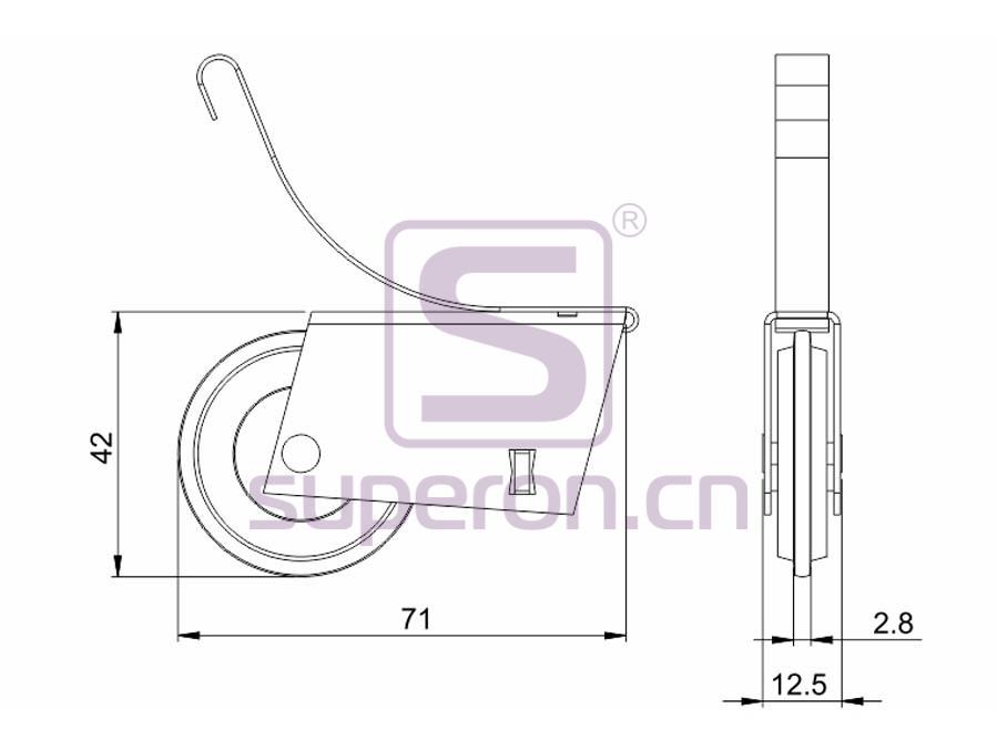 09-102-608B&629B-q | Roller system (L shaped)