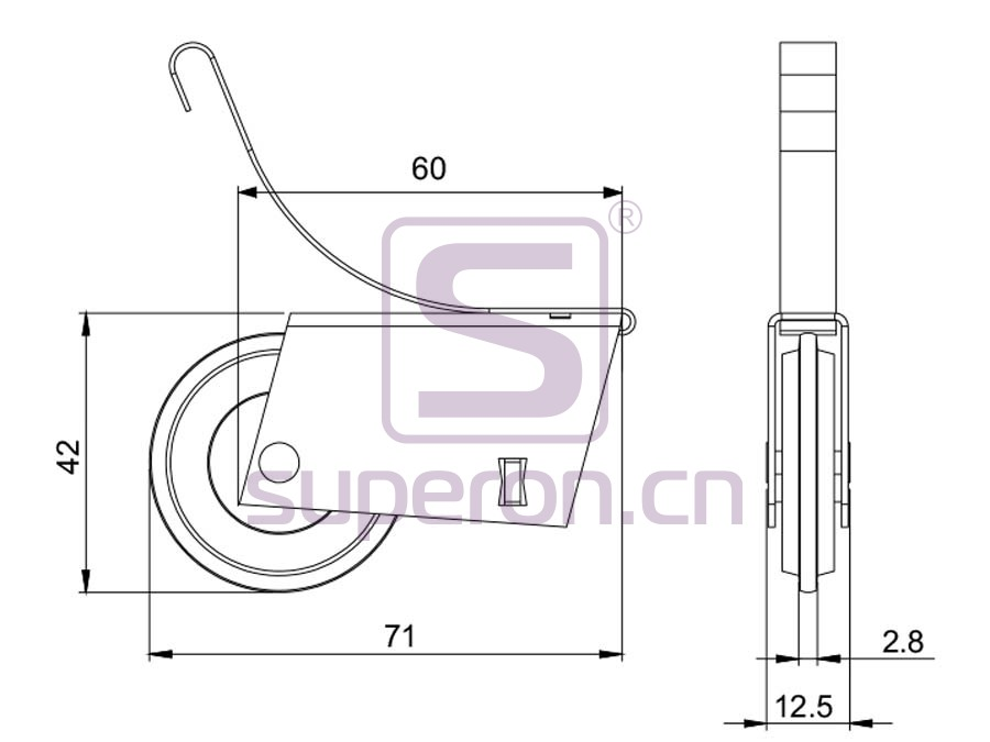 09-102-608B-q | Roller system (L shaped)