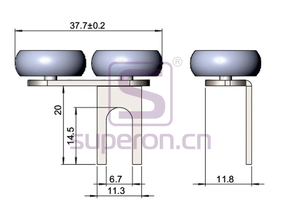 09-103-q | Roller system (asymmetric)