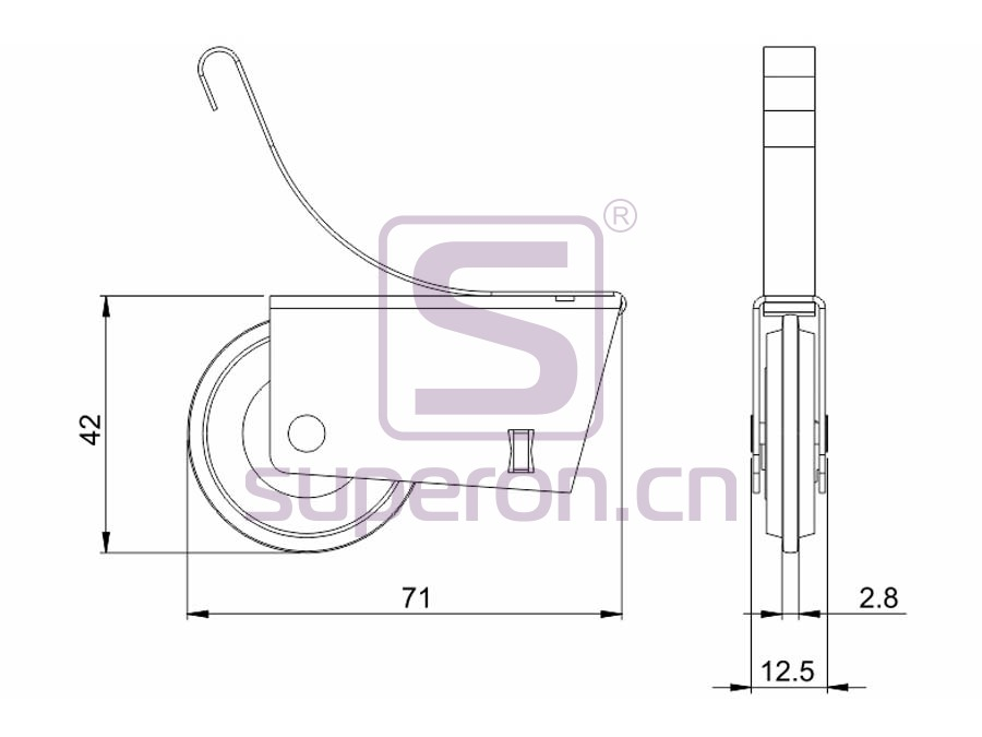 09-105-608A&629A-q | Roller system (asymmetric)