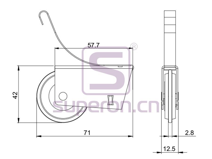 09-105-608A-q | Roller system (asymmetric)