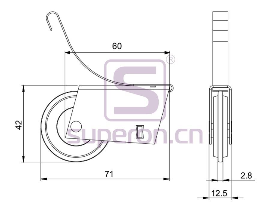 09-105-608B-q | Roller system (asymmetric)