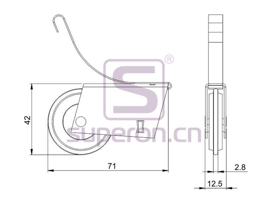 09-107-629A&629B-q | Roller system (asymmetric)