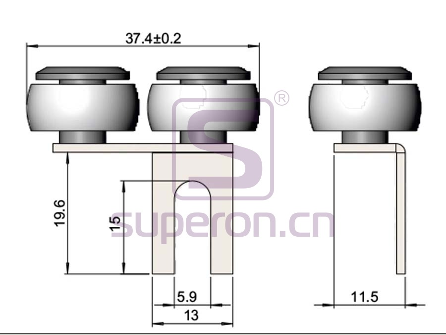 09-107-q | Roller system (asymmetric)