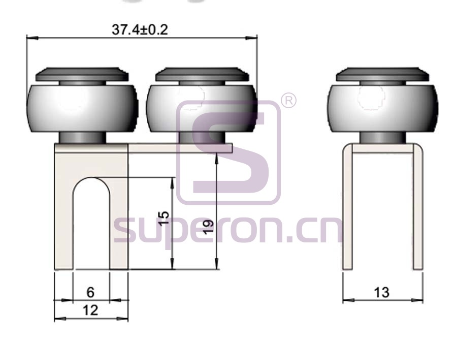 09-125-q1   Roller system (asymmetric)