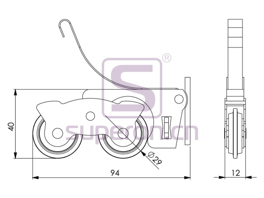 09-164-q   Roller system (symmetric)