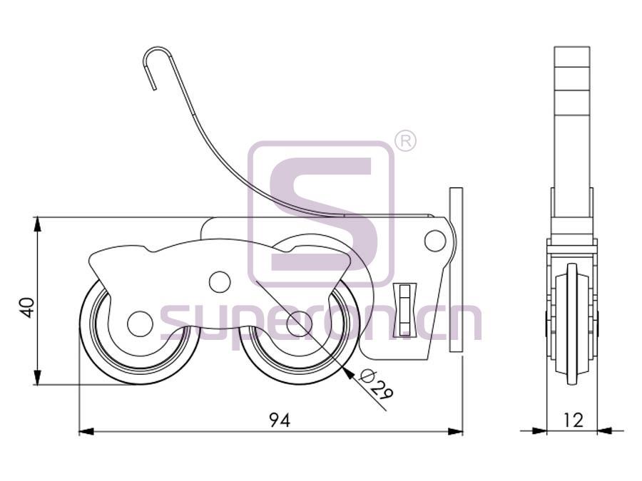 09-165-q | Roller system (asymmetric)