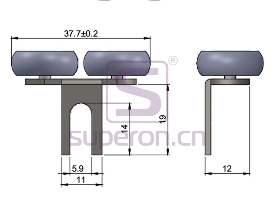 09-180-q1 | Roller system (symmetric)