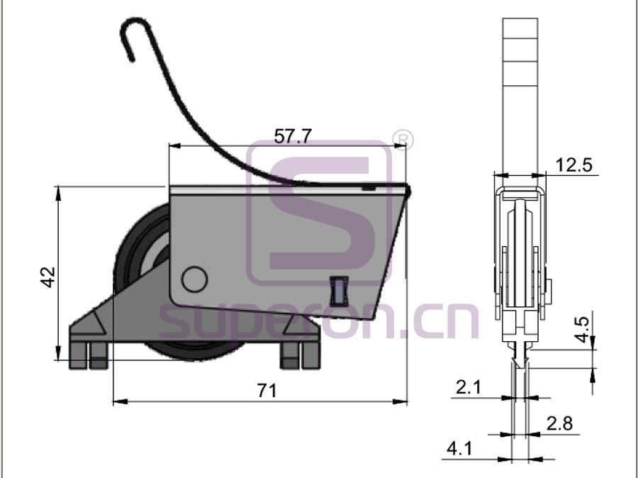 09-185-q | Roller system (asymmetric)