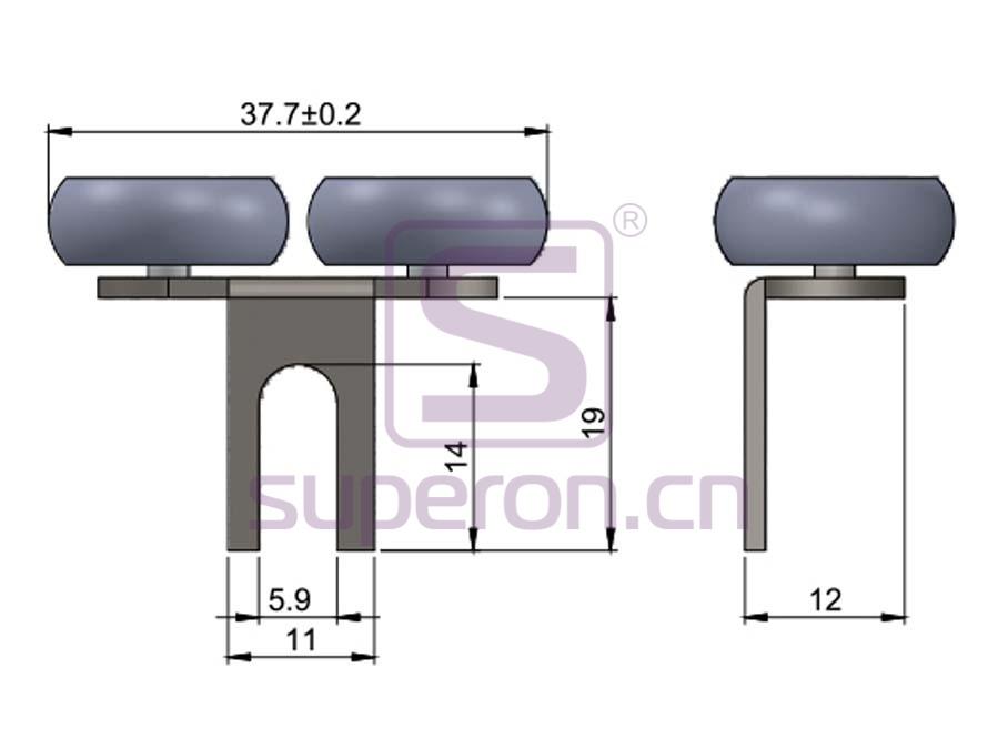 09-400-q | Upper roller (symmetric)