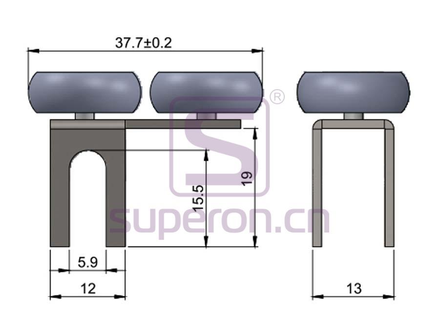 09-401-q | Upper roller (asymmetric)