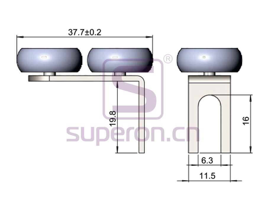 09-402-q | Upper roller (asymmetric)