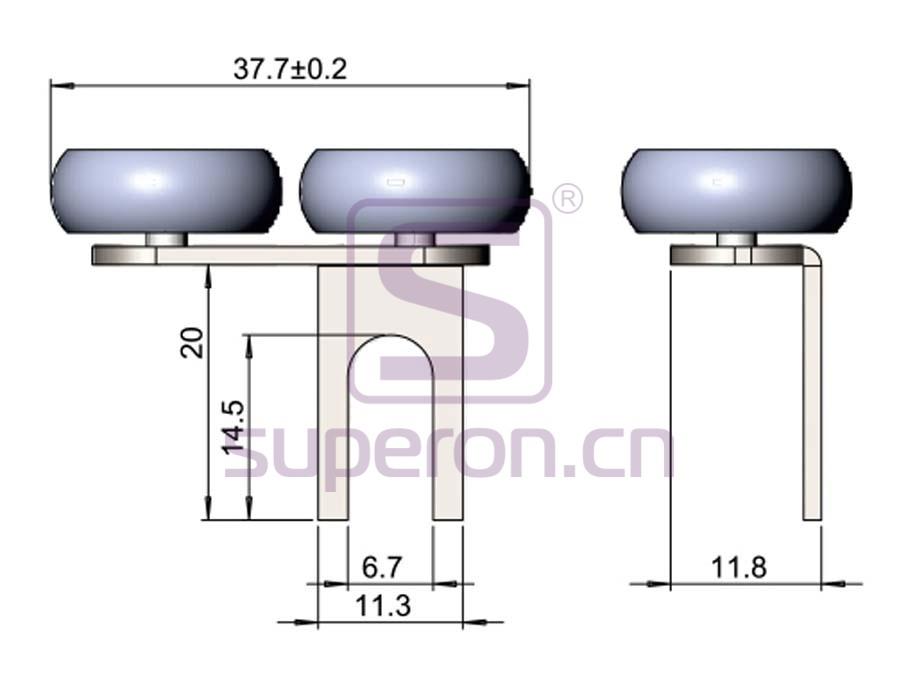 09-403-q | Upper roller (asymmetric)