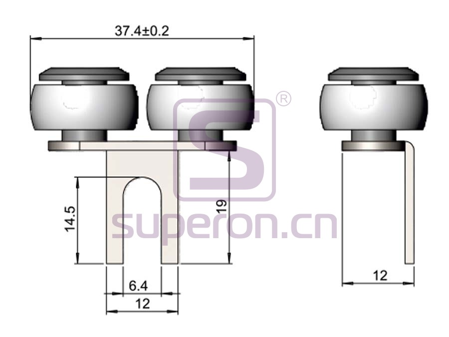 09-404-q | Upper roller (symmetric)