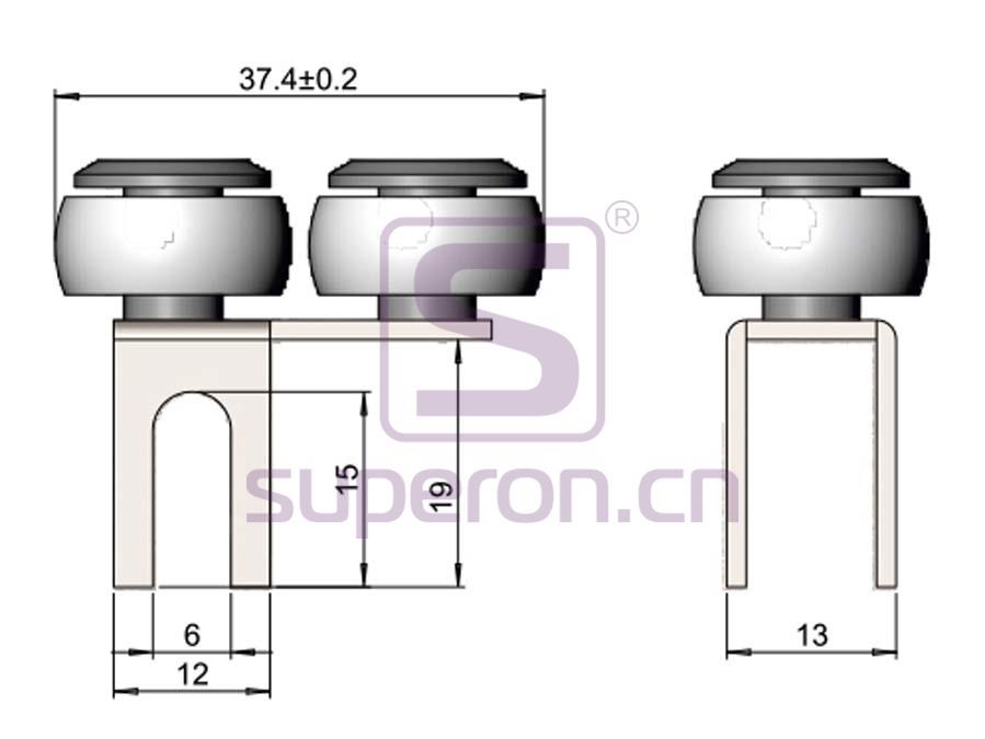 09-405-q   Upper roller (asymmetric)