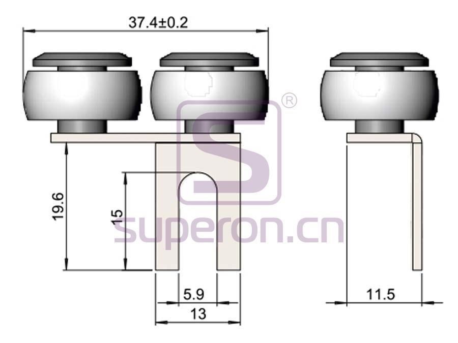 09-407-q | Upper roller (asymmetric)