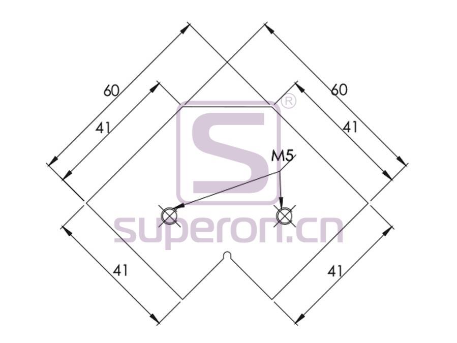 09-451-q   Mounting corner for corner