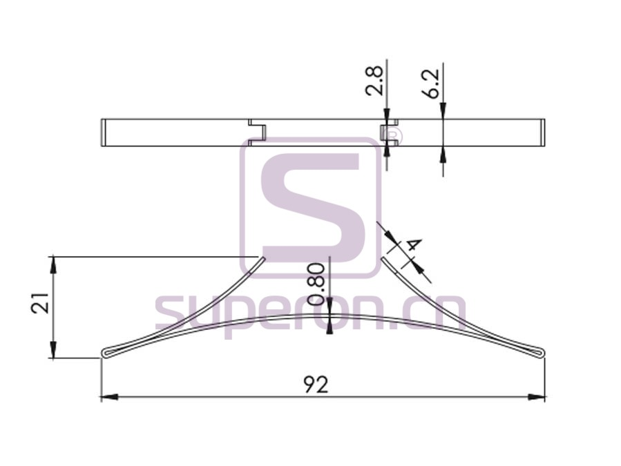 "09-491-q | Positioner (""spring"" steel)"