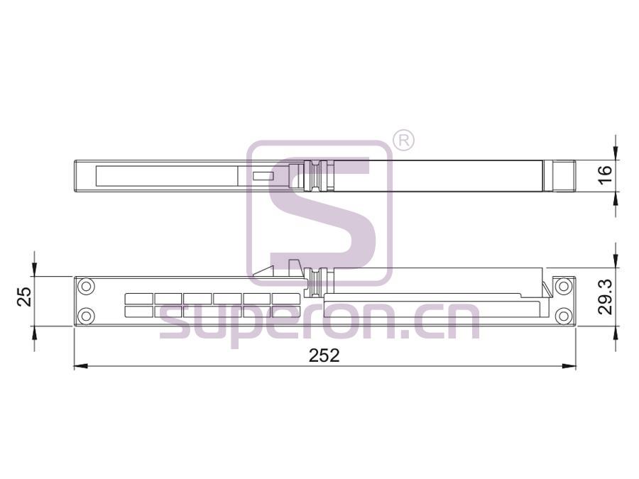 09-911-q | Soft closer for sliding doors