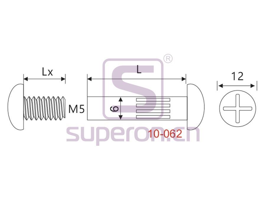 10-062-q | Mini mounting screw, M5/D6