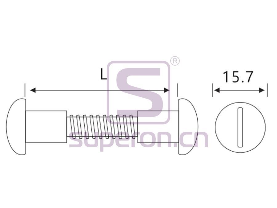 10-064-q   Plastic mini mounting screw, M4