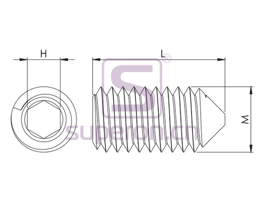 10-079-q | Bolt with inner hexagon DIN913/914