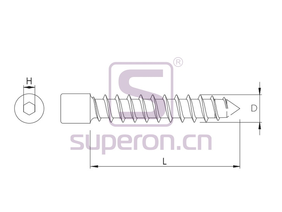 10-085-q | Self-tapping screw, hex