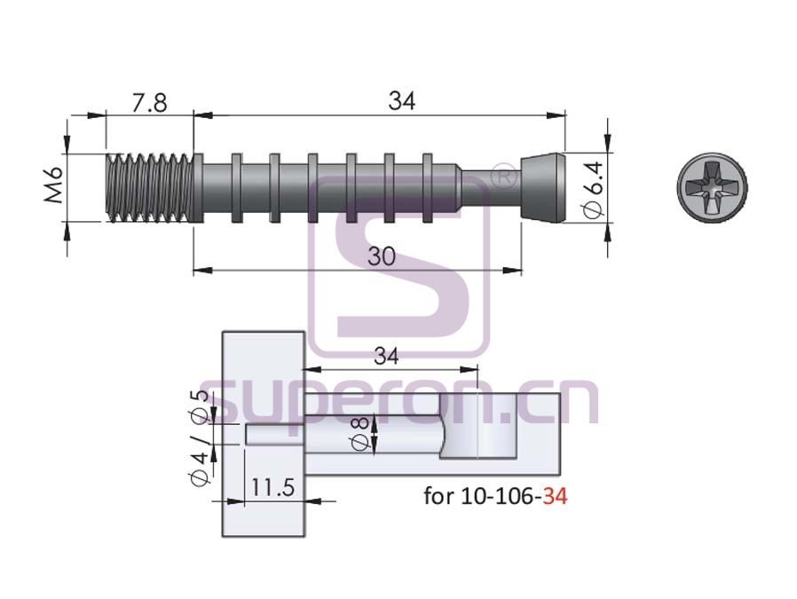 10-106-q | Rolled dowel, metric