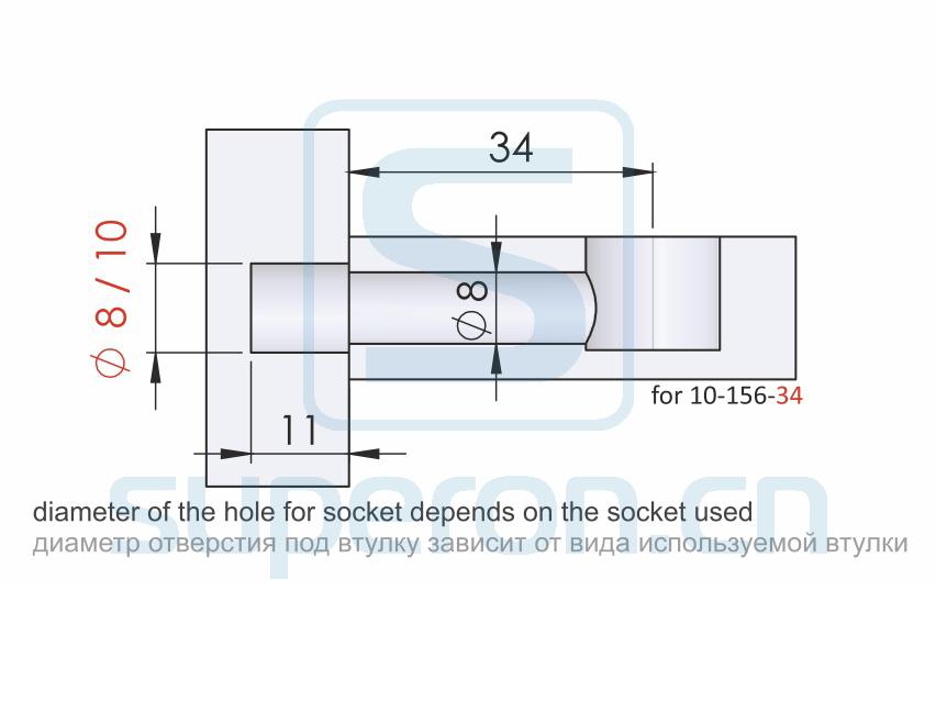 10-156-q2 | Dowel for eccentric, metric