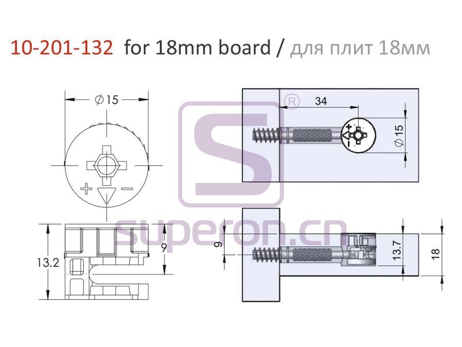 10-201-132-18-q | Eccentric cam, D15