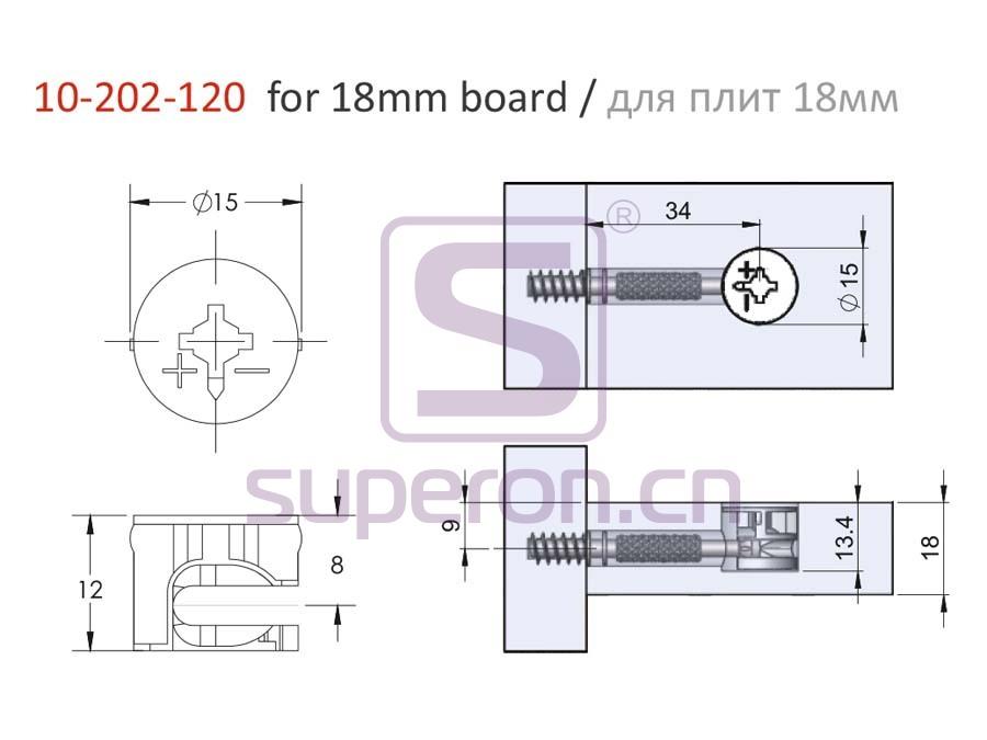 10-202-120-18-q   Eccentric cam, D15