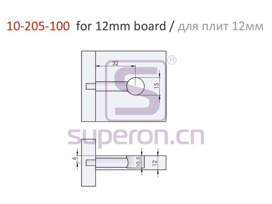 10-205-100-12-q   Eccentric cam, D15x10