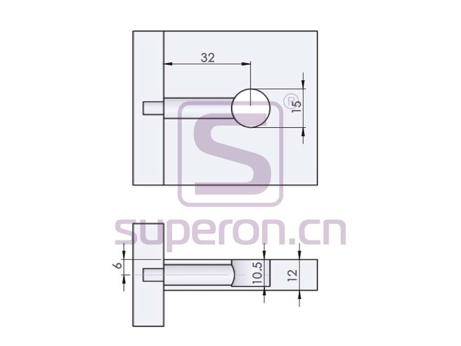 10-205-q   Eccentric cam, D15x10