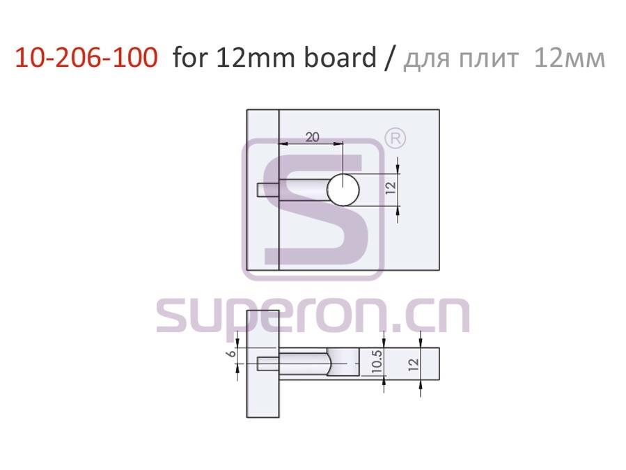10-206-100-12-q | Eccentric cam, D12x10