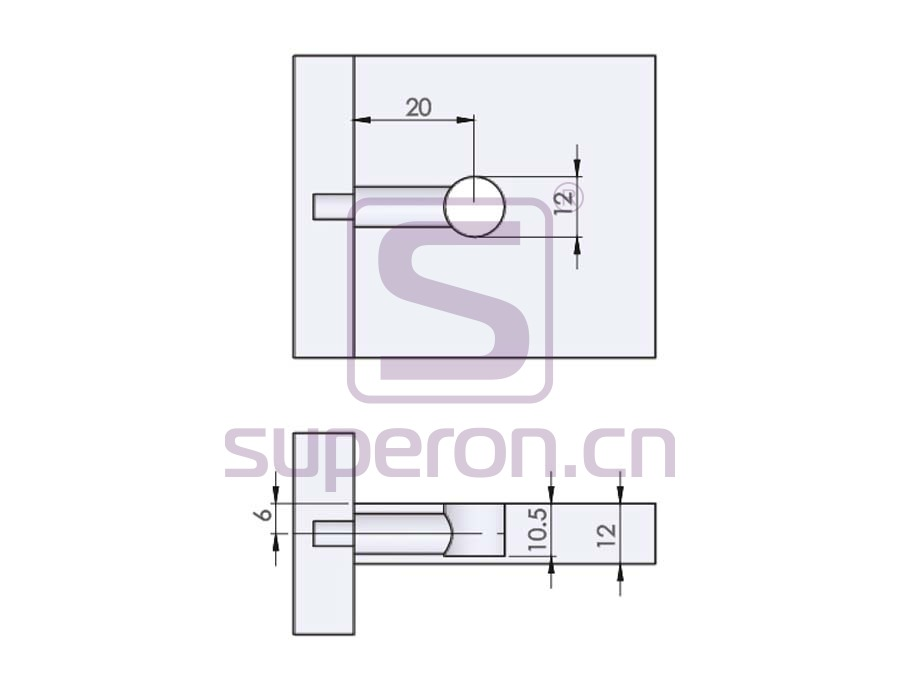 10-206-q | Eccentric cam, D12x10