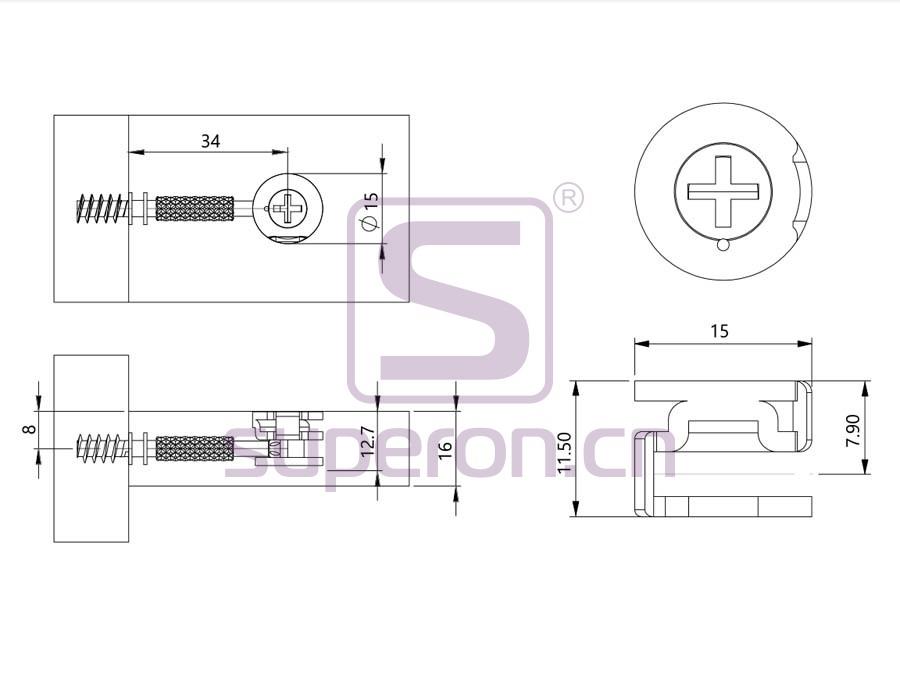 10-210-q | Steel eccentric cam, D15