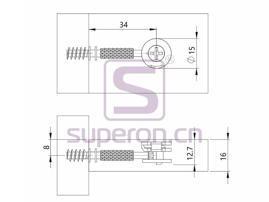 10-211-q1   Steel eccentric cam, D15