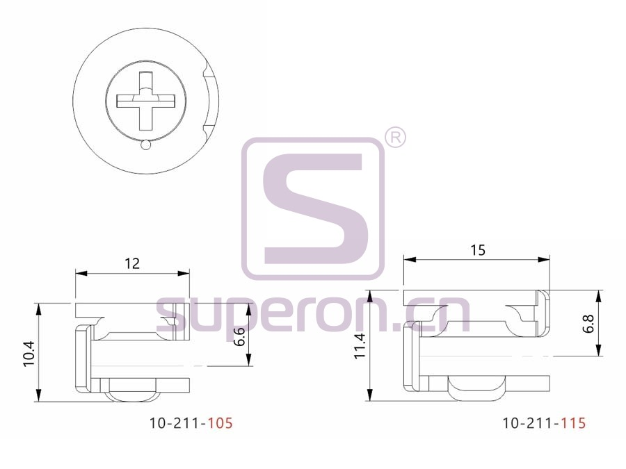 10-211-q2   Steel eccentric cam, D15