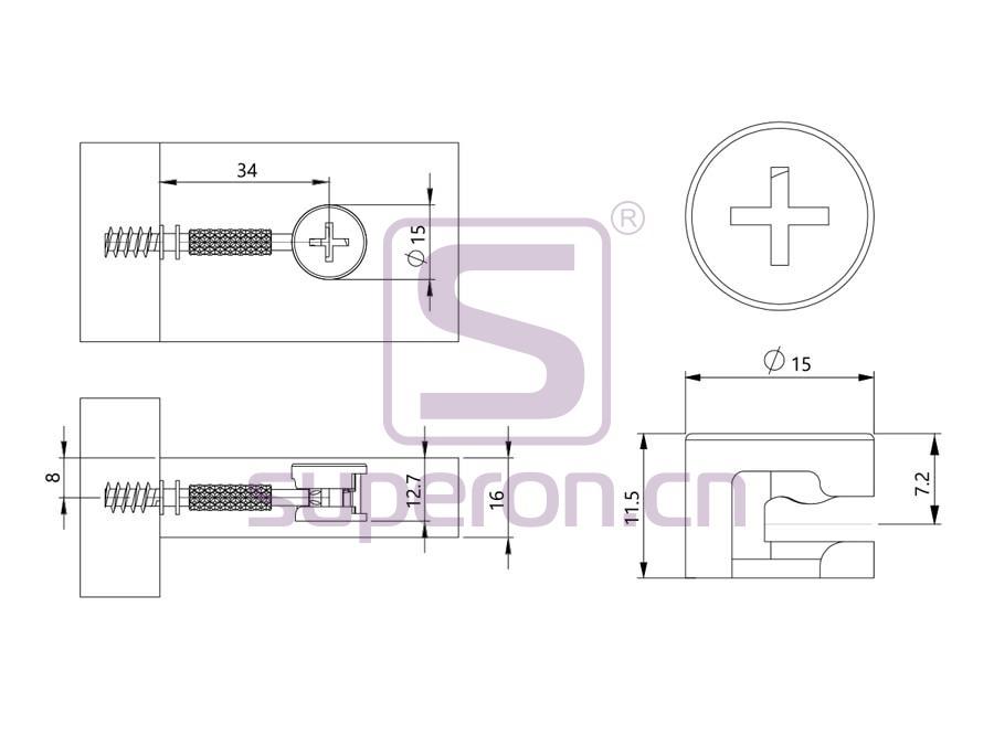 10-212-q | Steel eccentric cam, D15