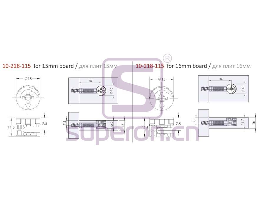 10-218-115-q | Eccentric cam, D15